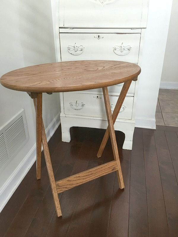 Farmhouse Style TV Tray Tables Before