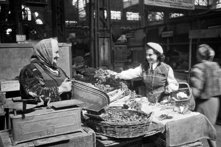 Budapest, IX. Fővám tér, Központi Vásárcsarnok. / Budapest Central Market cca. 1948