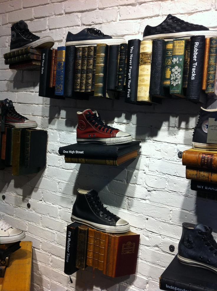Shoe Display Converse Store Newbury St Boston