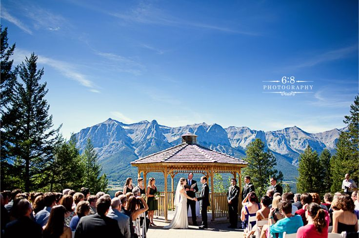 Silvertip Resort - one of the best meals I ate last summer! Plus it is hard to go wrong with a view like this! http://68photography.ca/2011/09/canmore-wedding-photographers-ke/