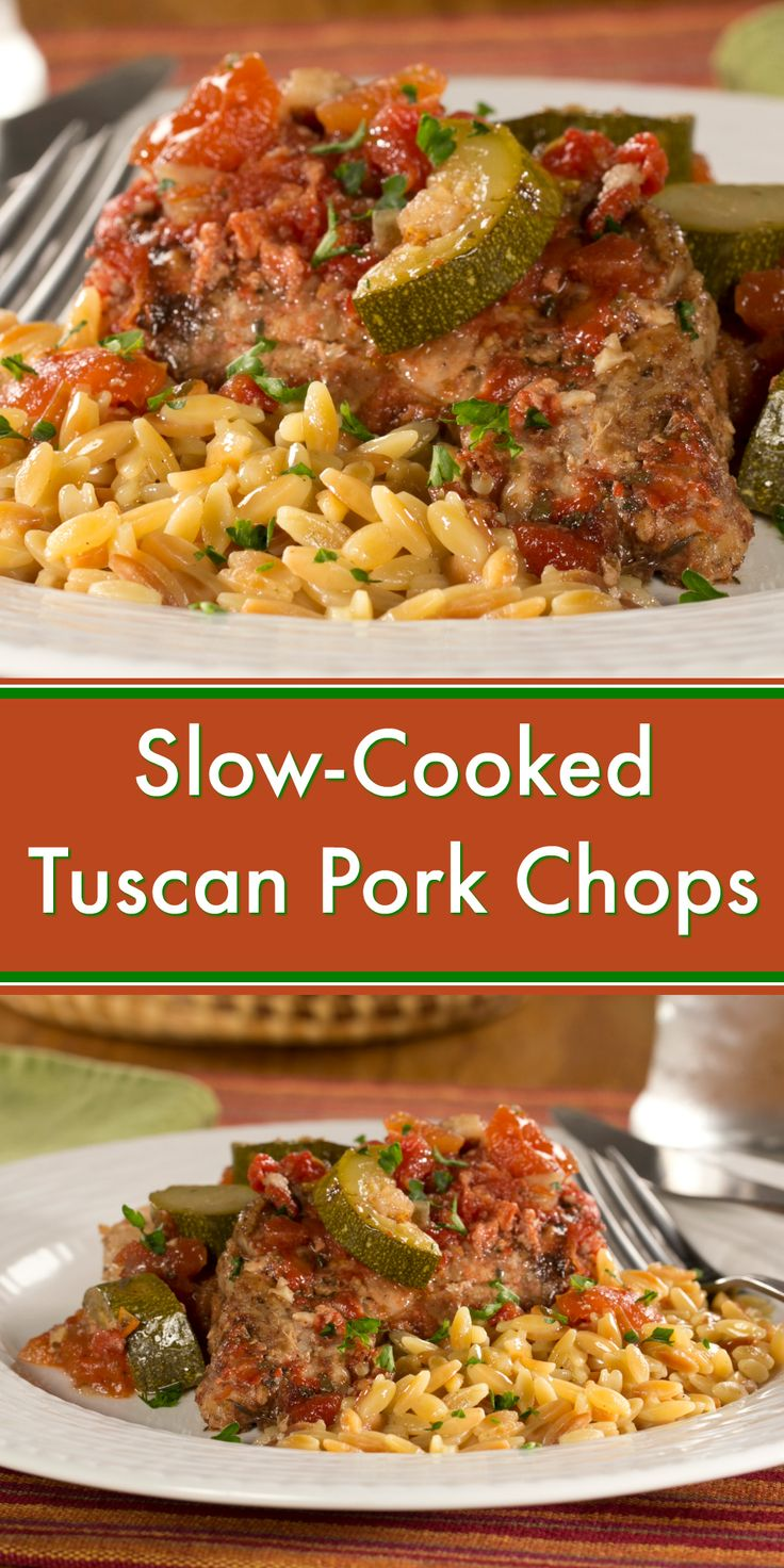 A Slow-Cooked Tuscan Pork Chop supper sounds good to us!