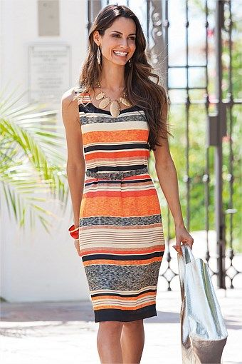 Women's Dresses - Together Stripe Dress