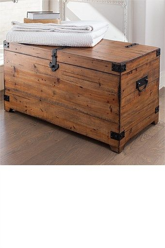 Indoor & Outdoor Furniture - Shulman Trunk - EziBuy New Zealand. Alternative idea to bench seat at end of the bed - can put winter blankets in for storage $269