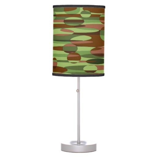 Green and Brown Lamp in a Box. $50.95   #trendy army colors