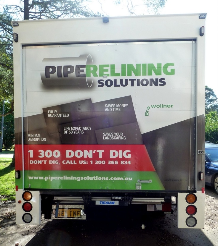 Isuzu Truck Wrap, Plumber Wrap, Trade Wrap, Truck Vehicle Wrap, Pipe Relining Solutions