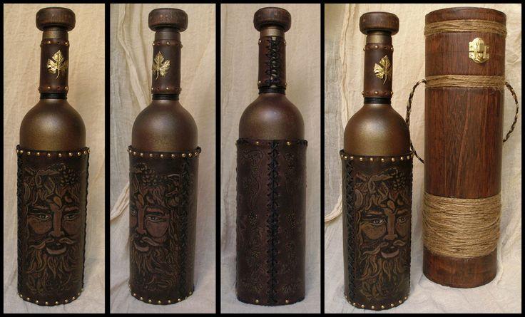 Bacchus Wine Bottle by morgenland.deviantart.com on @deviantART