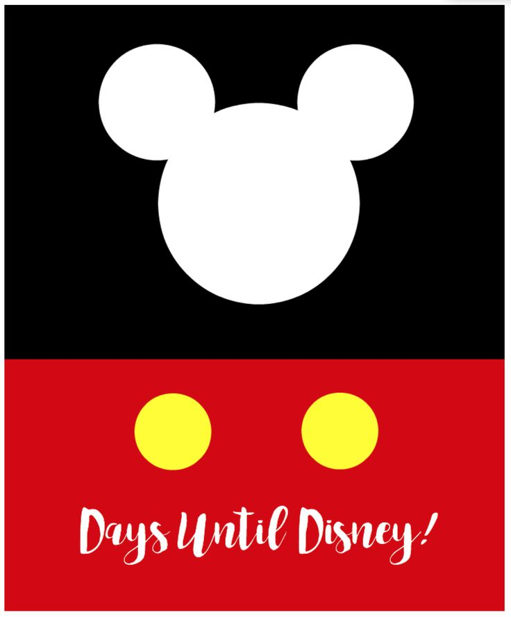 Headed to Disney? Print this Days Until Disney Printable for an easy-to-see erasable countdown for your children.