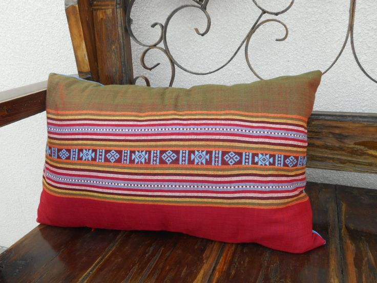 Brick Red Southwestern Style, Bohemian Decor Throw Pillow by SewVeryBerry on Etsy