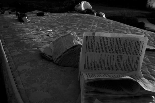 Black and white photography books broken homeless pollution despair desolation