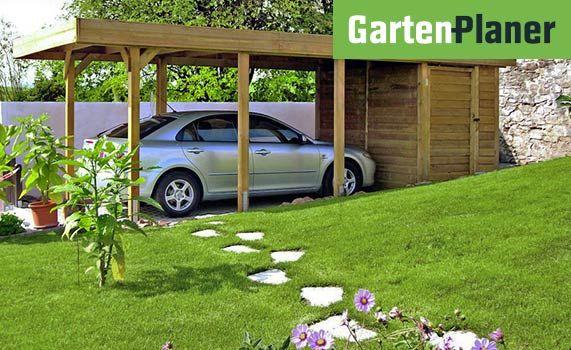Carport Ganz Einfach Selber Bauen Obi Gartenplaner Dachkonstruktion Holzhutte Garten Carport Selber Bauen