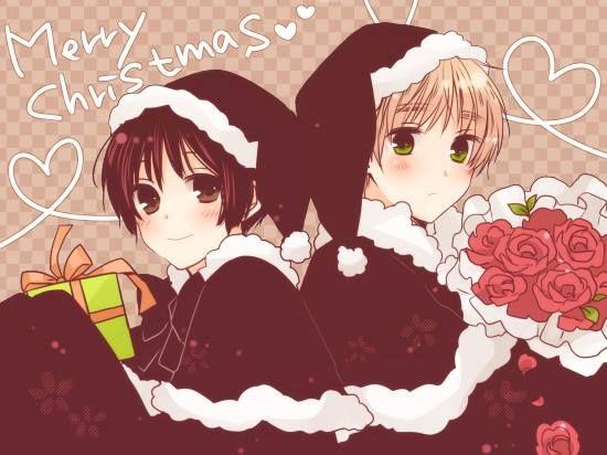 Japan and England Hetalia Merry Christmas