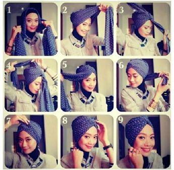 Hijab Tutorial (Turban modern)