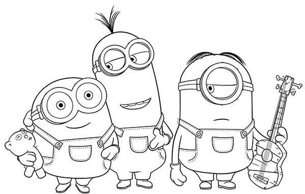 Desenhos Para Colorir Dos Minions Desenho Dos Minions