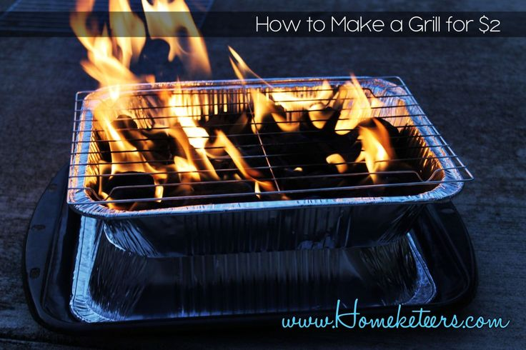 How to make a grill for $2 - perfect for #Emergency preparedness Picnics and Camping.