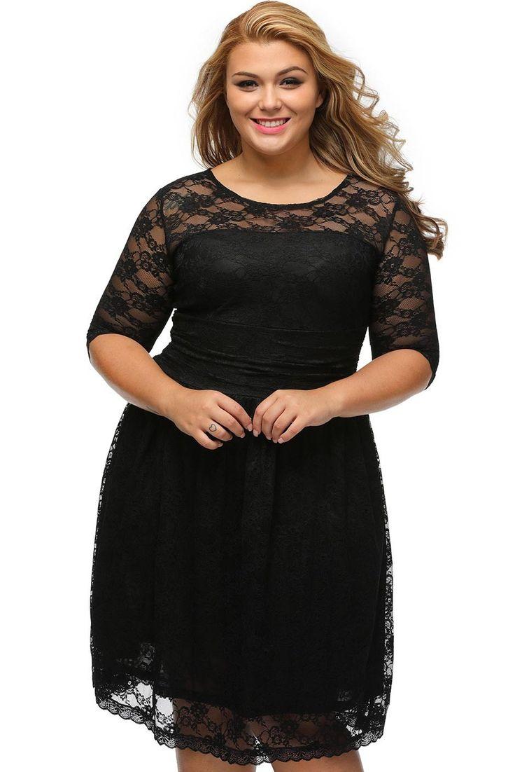 17 meilleures id es propos de robe grande taille sur pinterest style grande taille mode. Black Bedroom Furniture Sets. Home Design Ideas