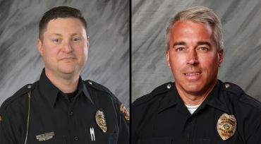 COLUMBUS, Ohio-- Ohio Gov. John Kasich ordered flags to be flown at half-staff to honor two Westerville police officers who were killed over the weekend.  The victims, 39-year-old Eric Joering and 54-year-old Anthony Morelli, were shot and killed while responding to a 911 hang-up in Westerville on Saturday. The suspect, who was wounded, has been charged with aggravated murder.