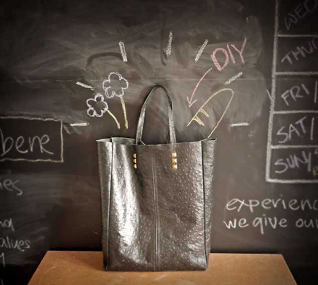 DIY Leather Tote | 20 Simple Sewing Projects That Any Beginner Can Make