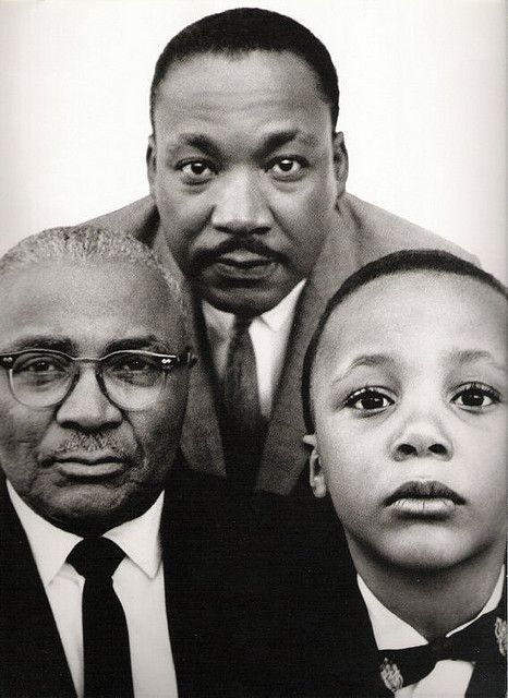 Martin Luther King  sr, jr, and son. I don't think I've ever see this one before.