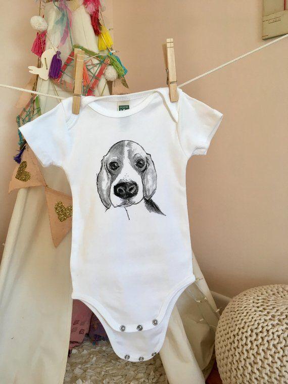Beagle Beagle Gifts Beagle Shirt Baby Bodysuit Baby Shower Etsy