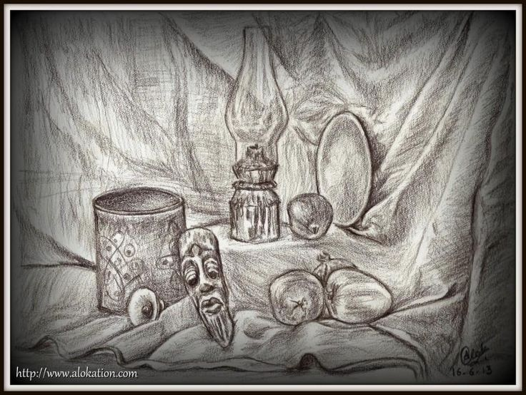 Still Life [CWA on 16th June 2013] - Sketching by Alok Kumar in Still Life at touchtalent 78527 #CWA #art #touchtalent #ChennaiWeekendArtists #sketch #drawing #alokation #StillLife