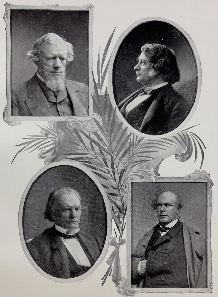 1895 Allen G. Thurman Charles Sumner Benjamin F. Wade Salmon P. Chase Print