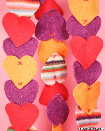 Heart-Felted Scarf  This lovely heart-felted scarf makes a wonderful and warm Valentine's Day gift.