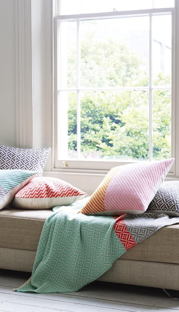 Our Geo Neon Stripe Throw is an effortless way to update your home with colour!
