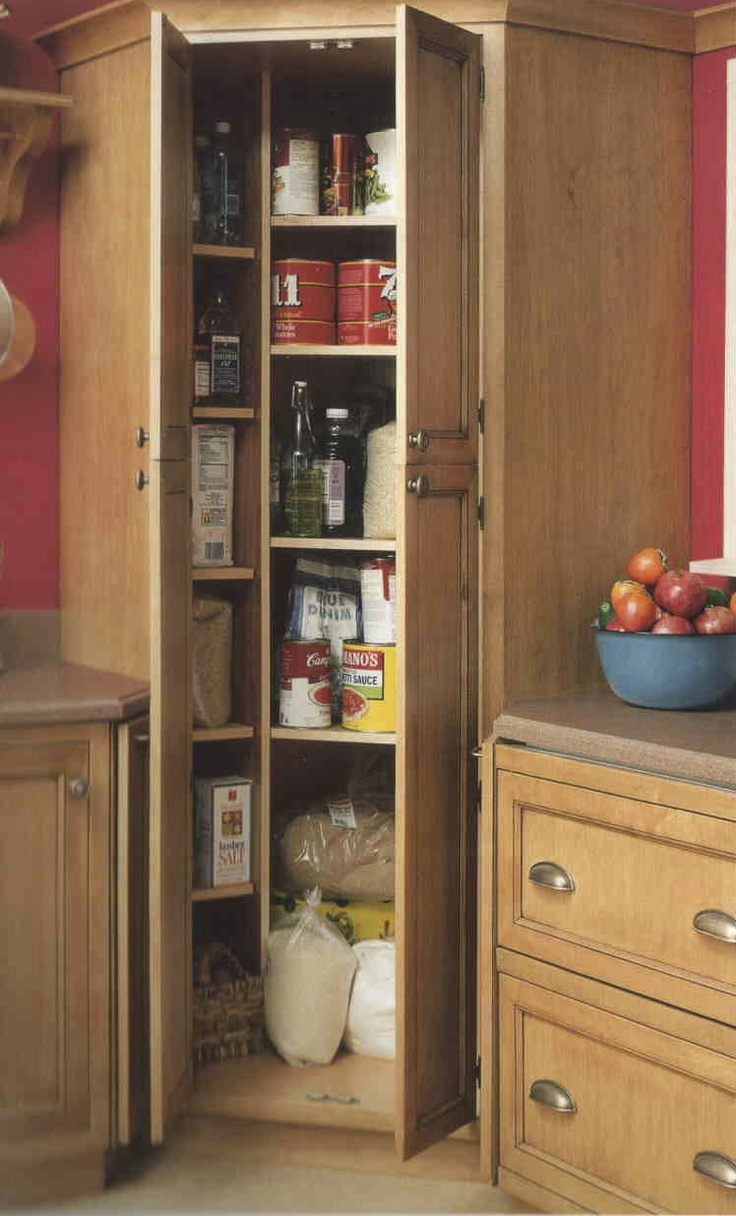 corner kitchen pantry cabinet Kitchen: Full height corner cabinet. | kitchen in 2019