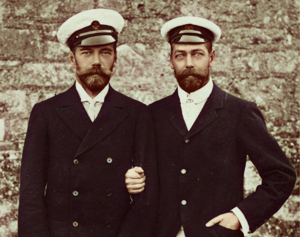Tsar Nicholas II  and his cousin King George V