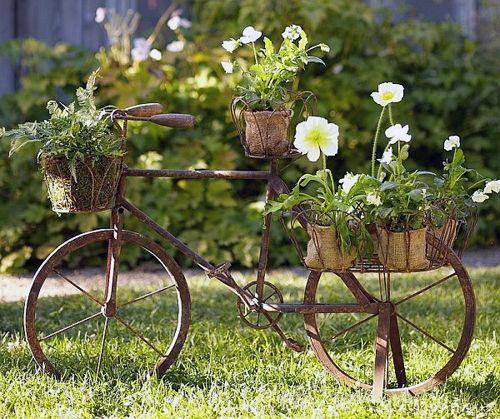 Ландшафтный дизайн своими руками. Велосипед.
