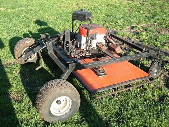 Diy Tractor Accessories : Homemade pull behind mower plans ftempo
