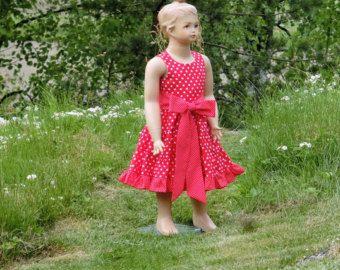 Fiore ragazza abito abito a pois ragazze vestito ragazza di