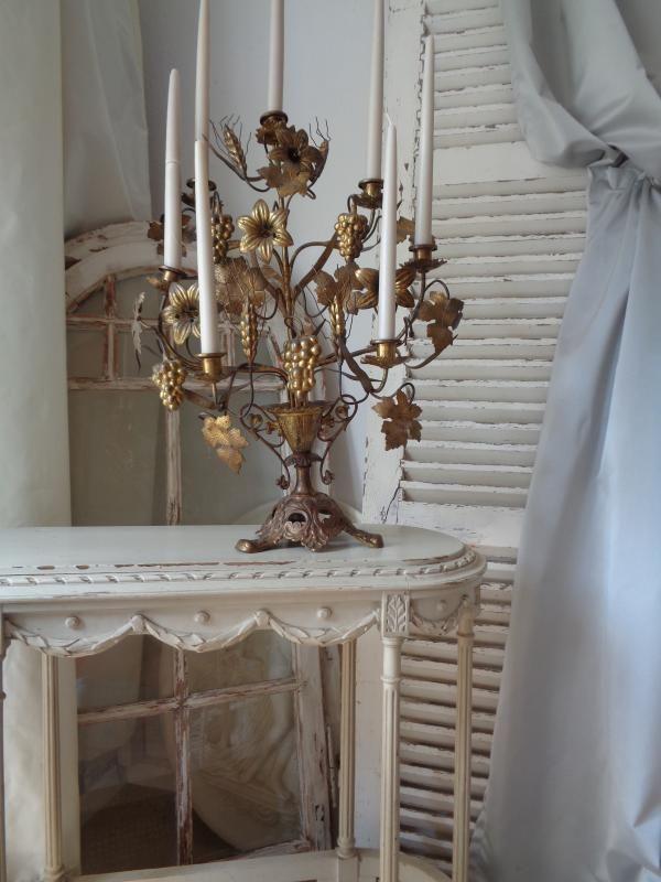 Shabby Frankreich details zu prächtiger, antiker altarleuchter frankreich um 1900