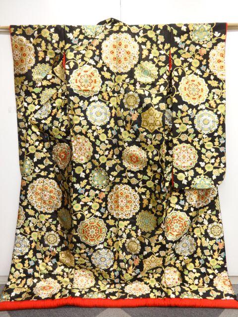 リサイクル 未使用品 川島織物製 本金華紋更紗模様織り出し花嫁衣装色打掛