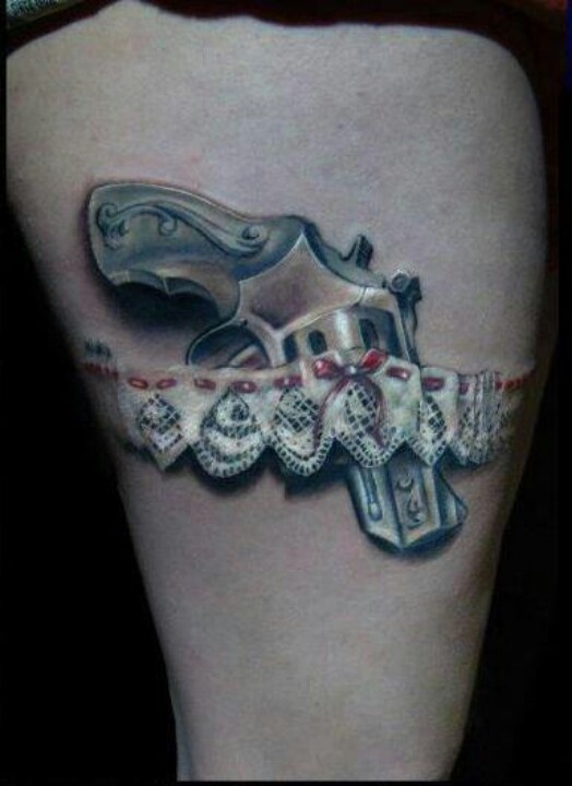 17 best images about gun tattoo design ideas on pinterest for Gun holster tattoo