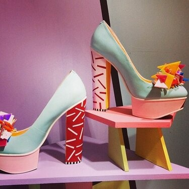 Fred Butler x Rosy Nicholas AW13 shoes