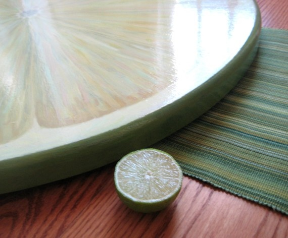 Giant Lime Slice Lazy Susan 32 Inch by JaneSuzanne on Etsy, $380.00