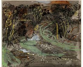 ✽    john piper  -  'woodland landscape'  -  mixed media