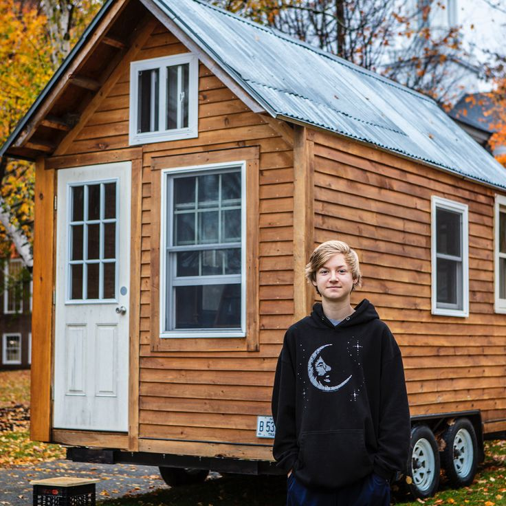 From this morning's assembly:  Building a #tinyhouse has been an incredible #experientiallearning opportunity for Luke Hayward 19.  He's been working on the project since 8th Grade with his grandfather and his father our own Chris Hayward. He's focused on being environmentally conscious by using #recycled and surplus materials and by installing #solarpanels with the help of the @altestore. Not only has this project been full of powerful lessons in building planning #design and #collaboration…