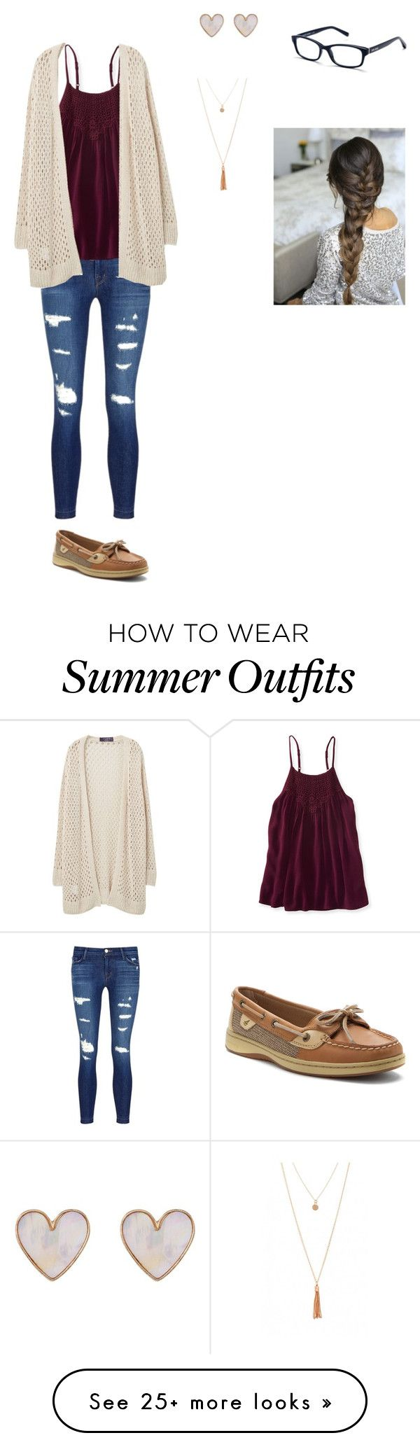 """""""School Outfit #10"""" by aprylbrown on Polyvore featuring J Brand, Aéropostale, Violeta by Mango, Sperry, New Look and Bobbi Brown Cosmetics"""