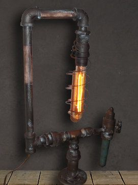 vintage industrial table lamp industrial lights by