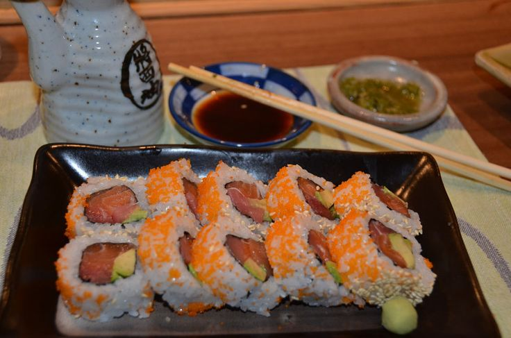 Shushi Roll,  yummi!!  Shunka Restaurant, Barcelona