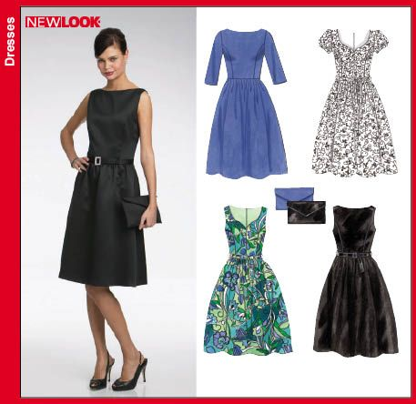 New Look 6723 from New Look patterns is a Misses Day or Evening Dress and Purse sewing pattern