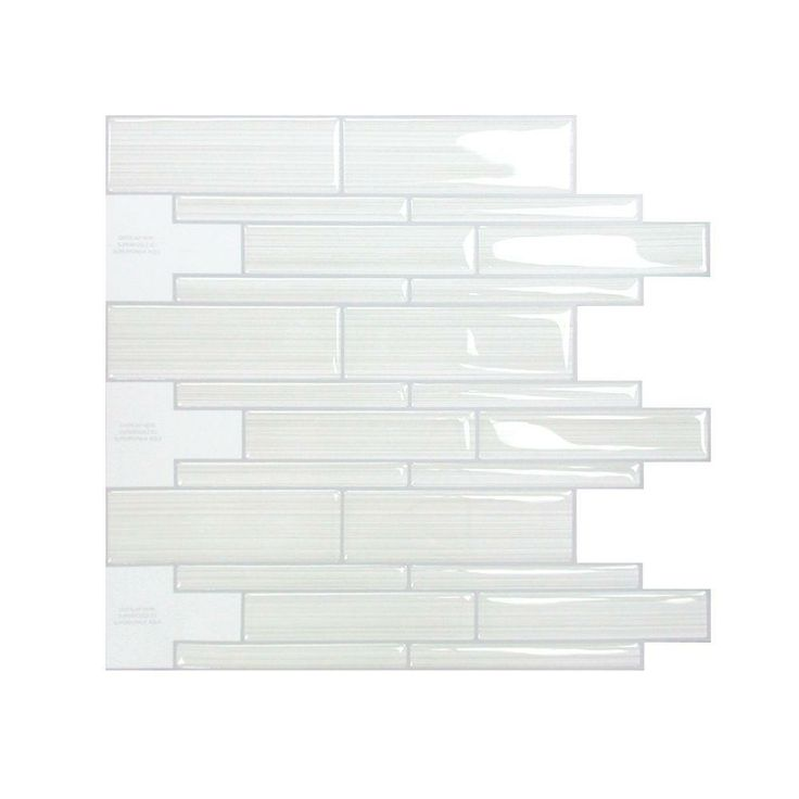 smart tiles infinity blanco 1051 in w x 971 in h peel and stick decorative mosaic wall tile backsplash. beautiful ideas. Home Design Ideas