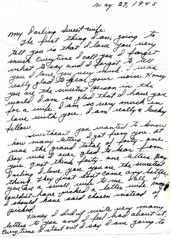 A World War II Love Letter 5291945 Notice The Pet Names