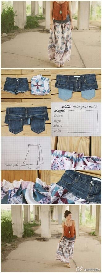 diy skirt from jeans