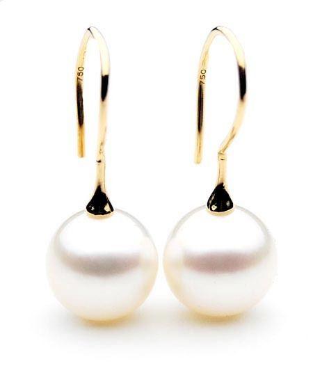 SE006 (AAA 11mm Australian South Sea Pearl Earrings in 18k Gold)