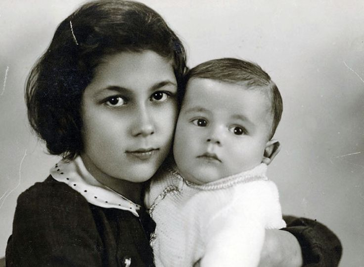 Rutka Laskier and her baby brother in 1938. They were both murdered in Auschwitz in 1943.