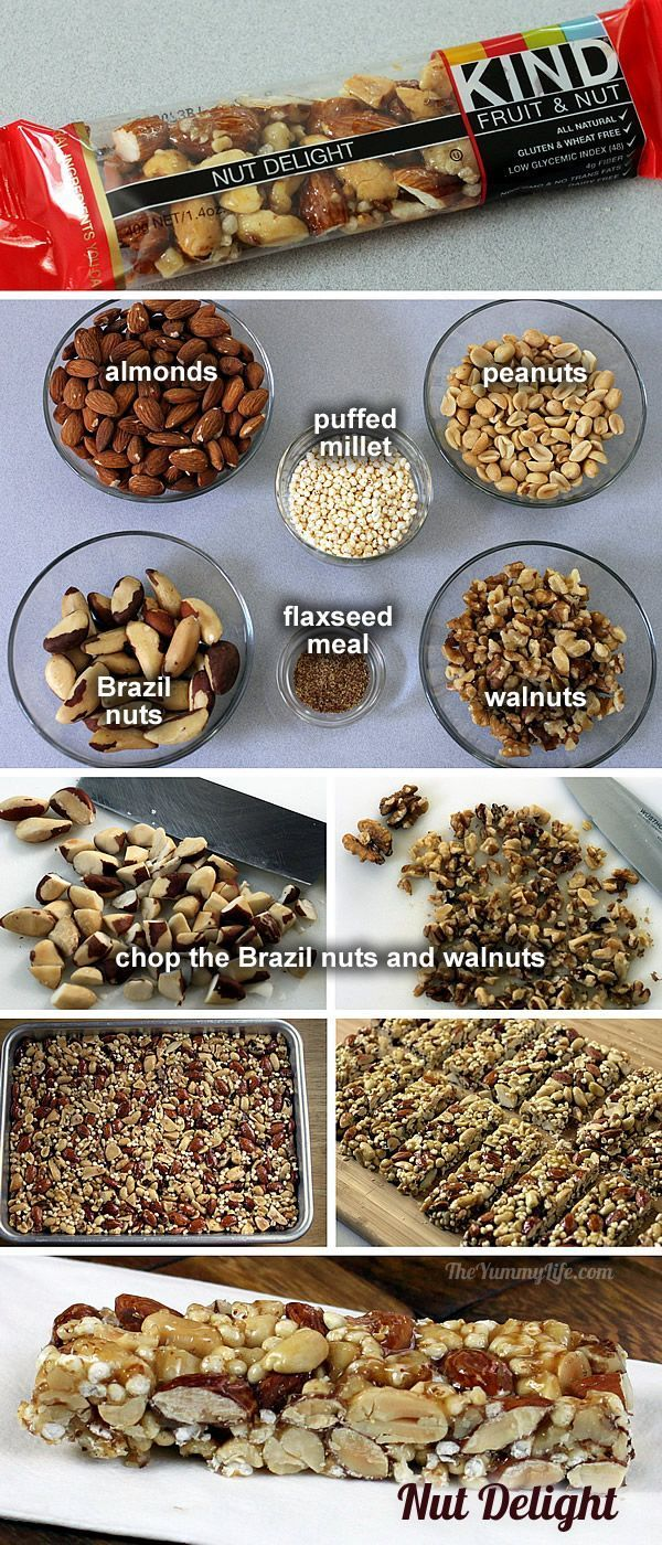 Nut Delight KIND bar, I love these things! So happy to have a copycat recipe for them! These are going to be the hit of the next hiking trip or car trip!: