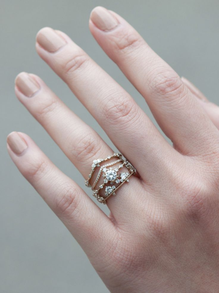 loving these delicate stacking diamond bands from @catbirdnyc